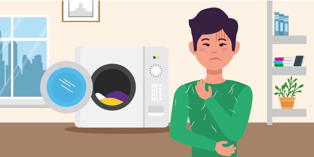 衣物棉絮,需定期清洗洗衣機