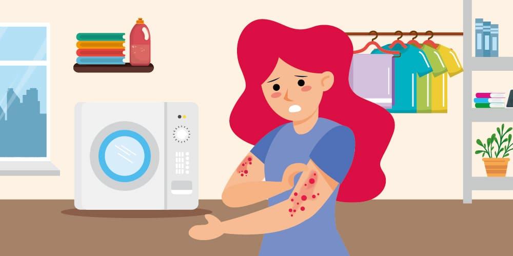 皮膚過敏,需定期清洗洗衣機