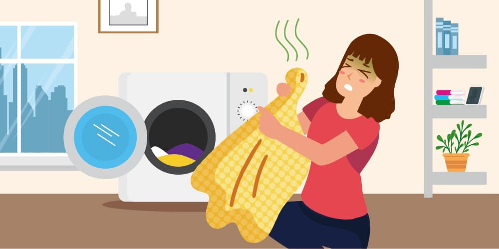 衣服異味,需定期清洗洗衣機
